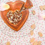Coeur de financier chocolat Dulcey & noisettes {fête des mères}
