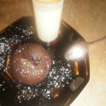 Coulant au chocolat et sa crème anglaise