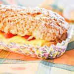 Eclairs vanille et fraises fraîches