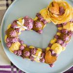 Heart Cake ou Tarte coeur hibiscus, vanille & myrtille {Saint-Valentin}