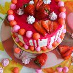 Layer cake vanille & fraises