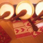 Mousse chocolat blanc et cuillères croustillantes