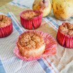 Muffins aux poires et caramel au beurre salé