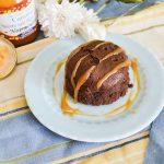 Petit gâteau extra fondant chocolat & caramel au beurre salé